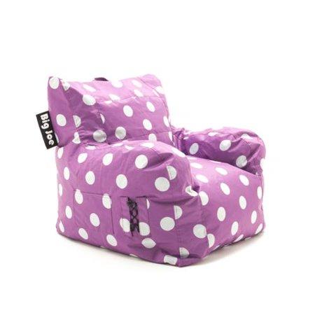 Phenomenal Beansack Big Joe Pink With White Dots Dorm Bean Bag Chair Beatyapartments Chair Design Images Beatyapartmentscom