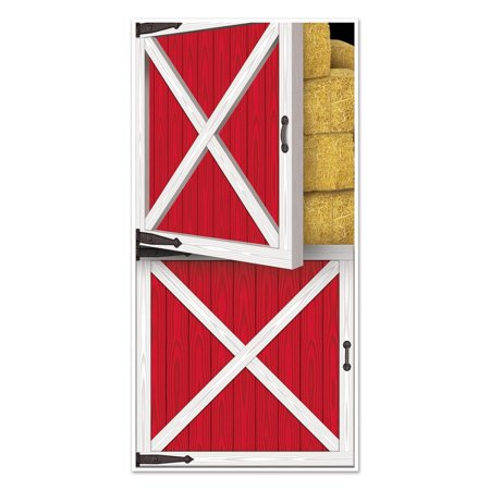 Club Pack of 12 Western Themed Barn Door Cover Party Decorations 5' - Western Themed Parties