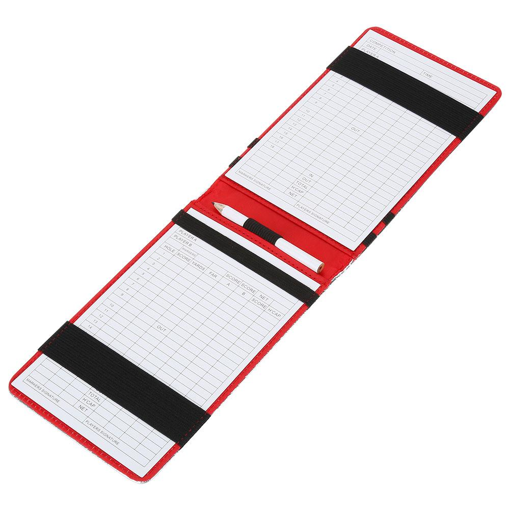 Lv. life PU Golf Score Counter Keeper Card Holder Gift Sports Accessories with Pencil , Golf Score Keeper Card