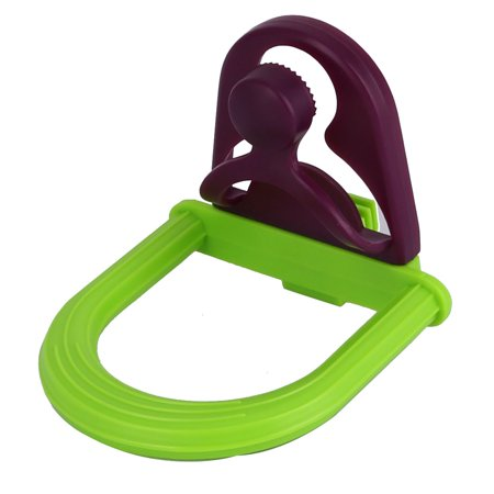 Parakeets Parrot Plastic Cage Mounted Perch Holder Playstand Hanger Toy Green