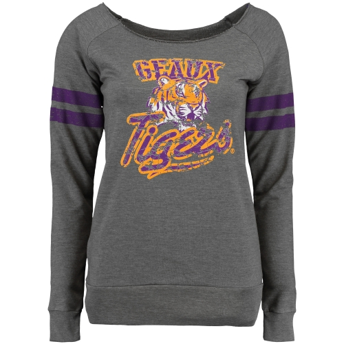 LSU Tigers Women's Flash Dance Fleece Sweatshirt - Gray