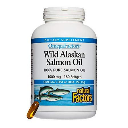 Wild Alaskan Salmon Oil - 1000mg 100% Pure Salmon 180 Softgels