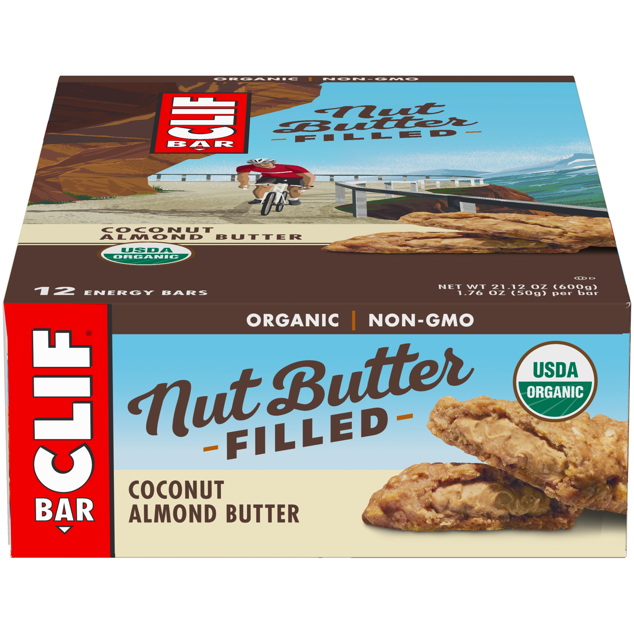 CLIF Bar® Nut Butter Filled Coconut Almond Butter Energy Bar 12-1.76 oz. Bars