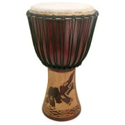 """Hand-carved Djembe Drum From Africa - 13""""x24"""" - Drum Circle Village"""