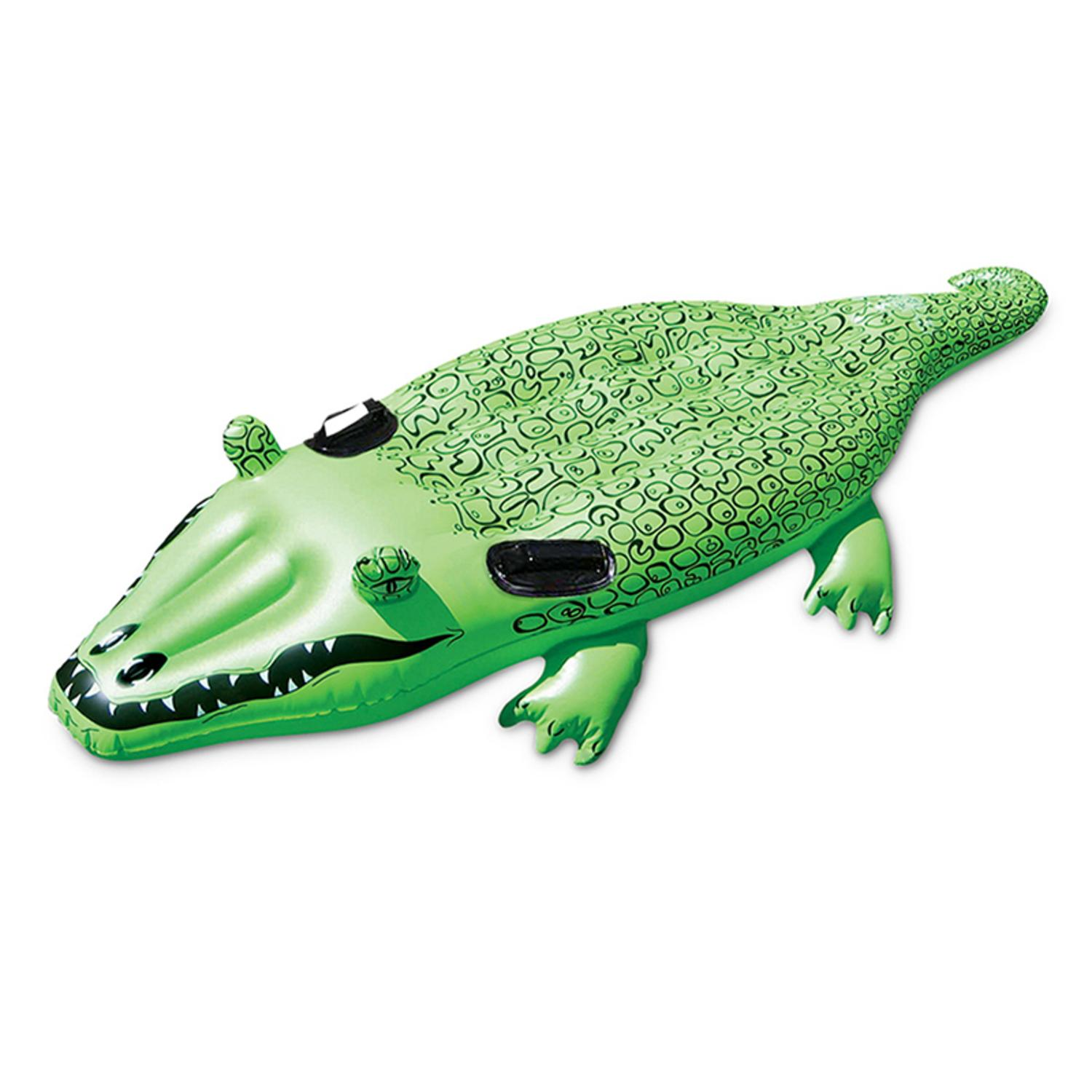 """67"""" Jumbo Alligator Rider Inflatable Swimming Pool Toy by Swim Central"""