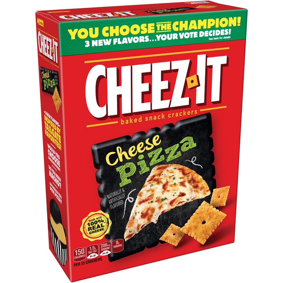 (2 Pack) Cheez It Cheese Pizza Baked Snack Crackers 12.4 oz. Box