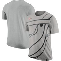 Miami Heat Nike Oversize Logo Performance Tri-Blend T-Shirt - Gray