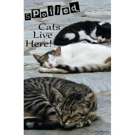 Flag Emotes - Double Sided Garden Flag - Spoiled Cats Live Here