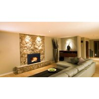 "Fusion FN-01 Fireplace Insert with 38"" x 24"" Surround Package1"