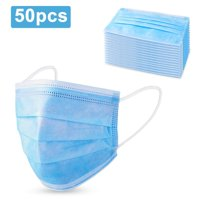 Deals on 50-Pack 3 Layer Non-Woven Breathable Face Masks