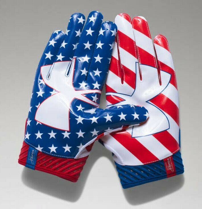 Under Armour Mens Spotlight Limited Edition Football Gloves 1326226 White//Blue