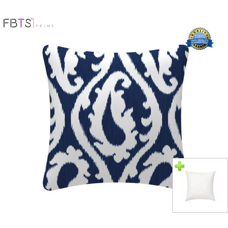 Fabulous Throw Pillow With Insert Indoor Outdoor 18 By 18 Inches Decorative Square Cushion Cover Pillow Sham Navy Blue For Couch Bed Sofa Patio By Fbts Prime Pabps2019 Chair Design Images Pabps2019Com
