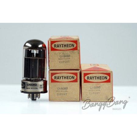 3 Vintage Raytheon CK6080/6080WA/6AS7G/ECC230 Dual Power Triode Valve - BangyBang Tubes