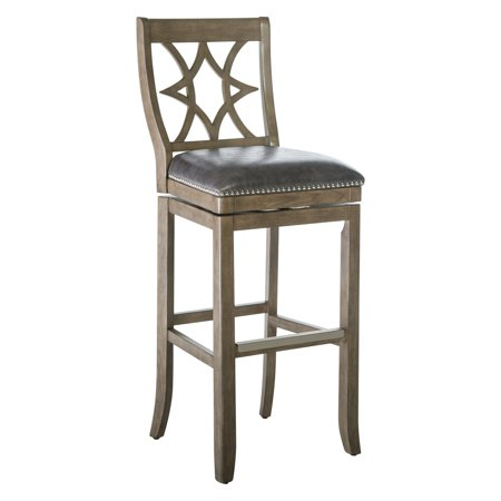 Belham Living Oliver Square Seat Swivel Extra Tall Bar Stool ()