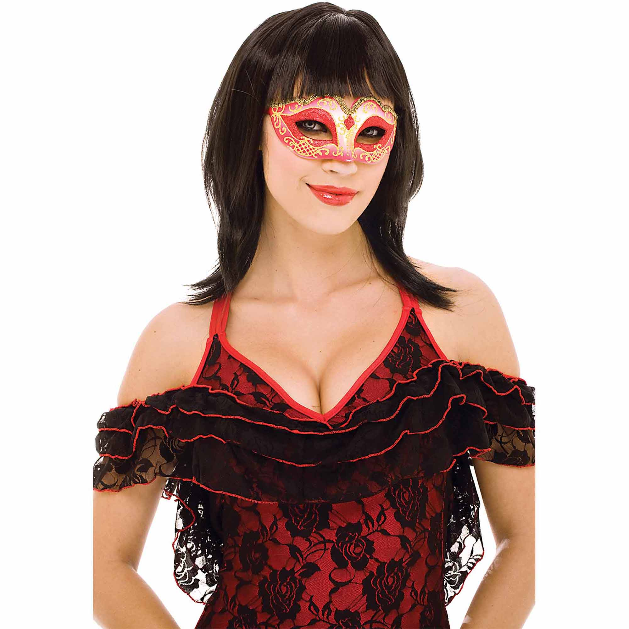 Red Masquerade Adult Halloween Accessory