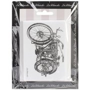 LaBlanche Silicone Stamp, 4 by 3-Inch, Motorcycle Multi-Colored