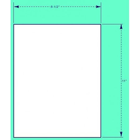 - Printable Sticker Paper (100 Sheets), White - 8.5