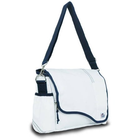 SailorBags Chesapeake Messenger, white w/blue trim
