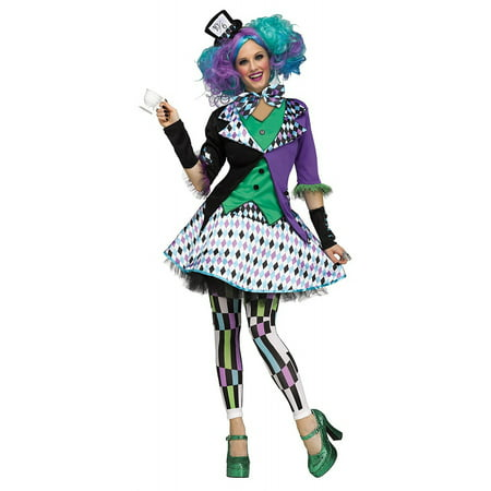 Mad Hatter Adult Costume - Medium/Large - Miss Mad Hatter Halloween Costume