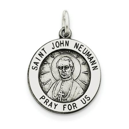 Sterling Silver Antiqued Saint John Neumann Medal