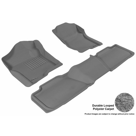 3D MAXpider 2007-2014 Chevrolet Tahoe Front & Second Row Set All Weather Floor Liners in Gray