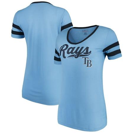 Women's New Era Light Blue Tampa Bay Rays Jersey V-Neck T-Shirt ()
