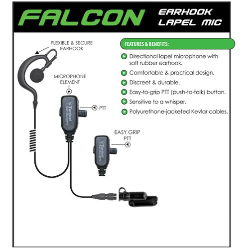 FALCON Quick Release Headset Earpiece for Vertex Standard VX_537 NYPD Radios