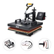 """5 in 1 15"""" X 15"""" T Shirt Heat Press Machine for Mug Hat Plate Cap Mouse Pad"""