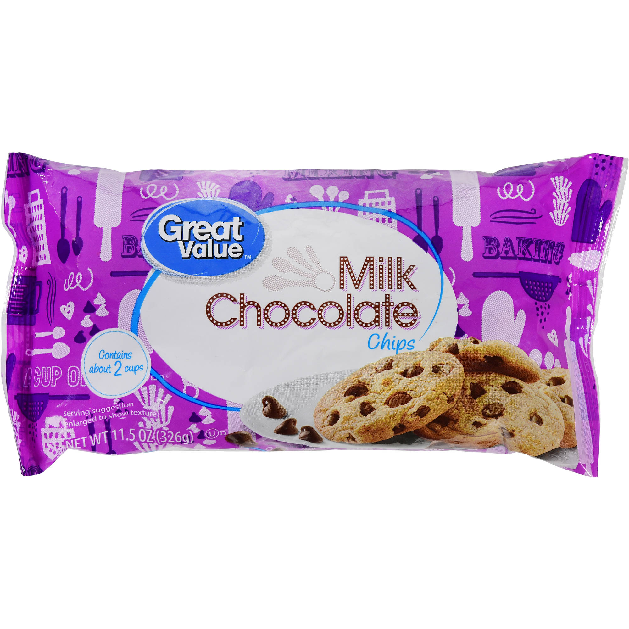Great Value Milk Chocolate Chips, 11.5 oz