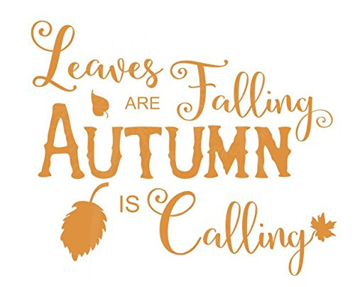 Hello Fall Quote Summer Vinyl Decor for Living Room Autumn Wall Decal So Long Family Room or Home Decoration