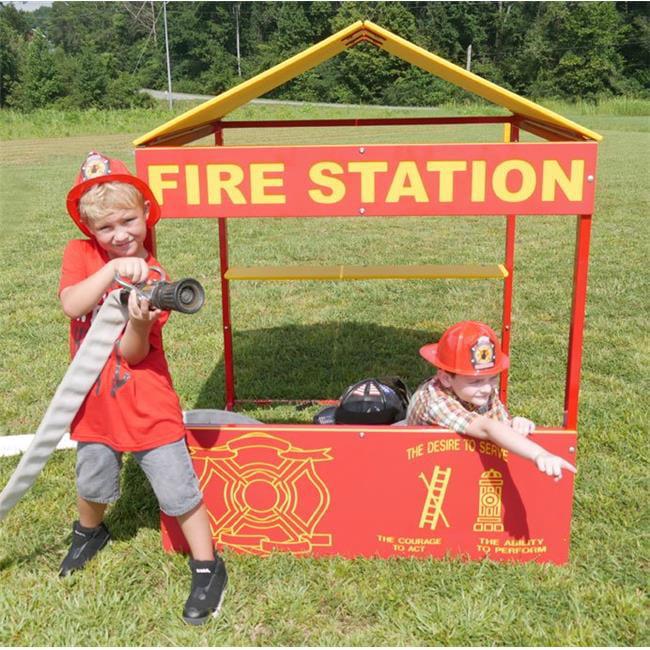 Infinity Playground Equipment IP-7016 Fire Station Playhouse