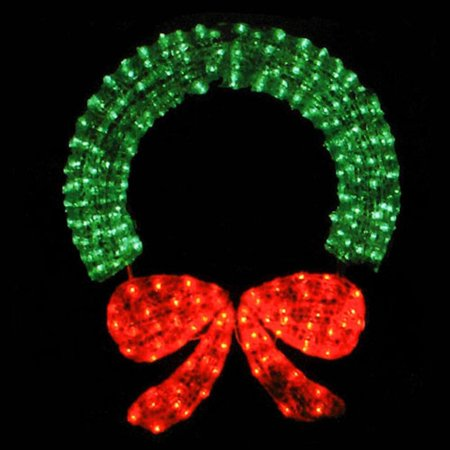 48 Commercial Sized Lighted Crystal 3 D Outdoor Christmas Wreath Decoration