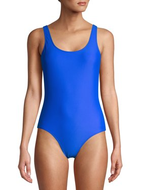 No Boundaries Juniors' Solid One-Piece Swimsuit