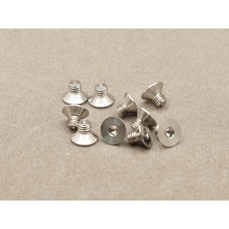 - Integy RC Toy Model Hop-ups OBM-AC-024-TSC 3 x 4mm Machine Type Titanium Countersunk Hex Screw (10 Pcs)