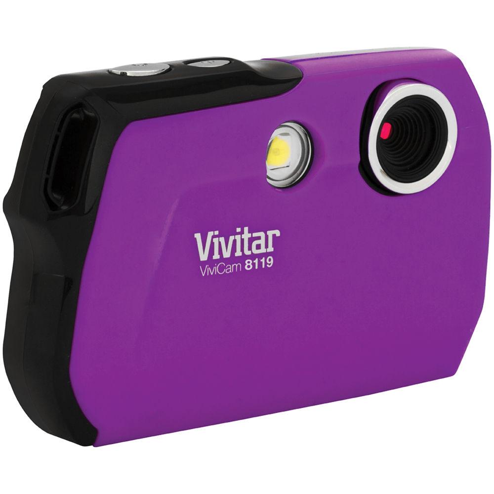 Vivitar V8119 8.1MP ViviCam Digital Camera (Purple)