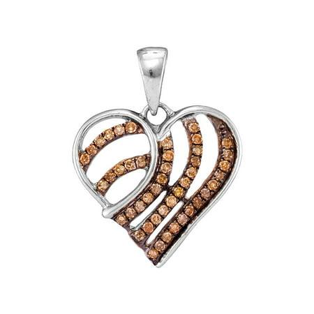 0.25ctw Cognac Diamond Fashion Pendant