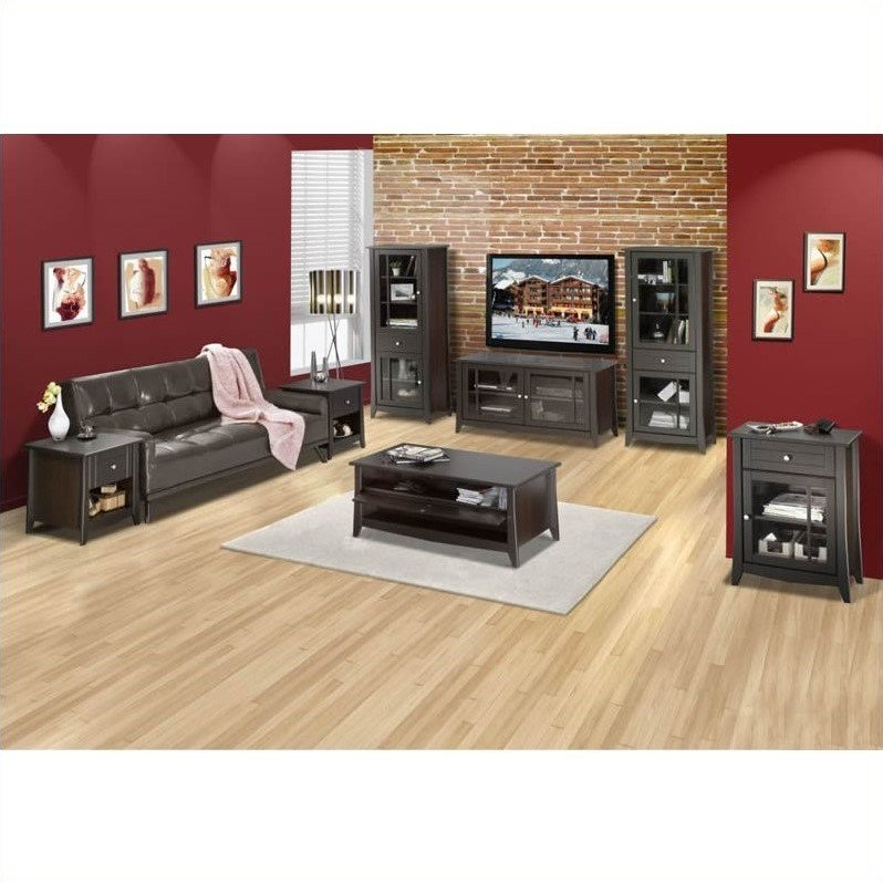 "Nexera Elegance 7-Piece 49"" Entertainment Set in Espresso"