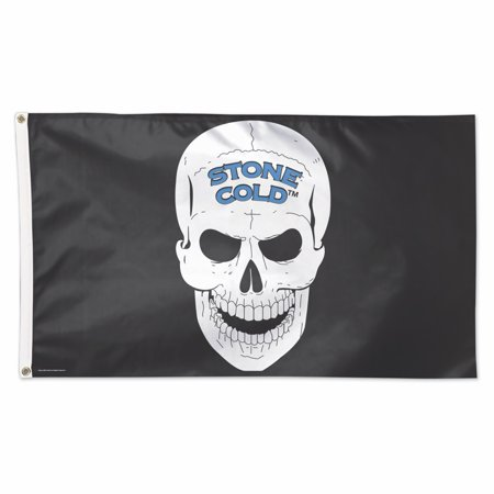 Official WWE Authentic Stone Cold Steve Austin 3 x 5 Logo Flag Black - Wwe Banner