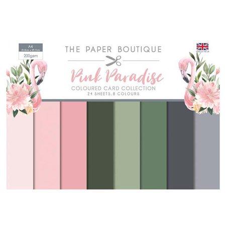 The Paper Boutique Pink Paradise Colour Card Collection A4 24 Sheets 8 Colours