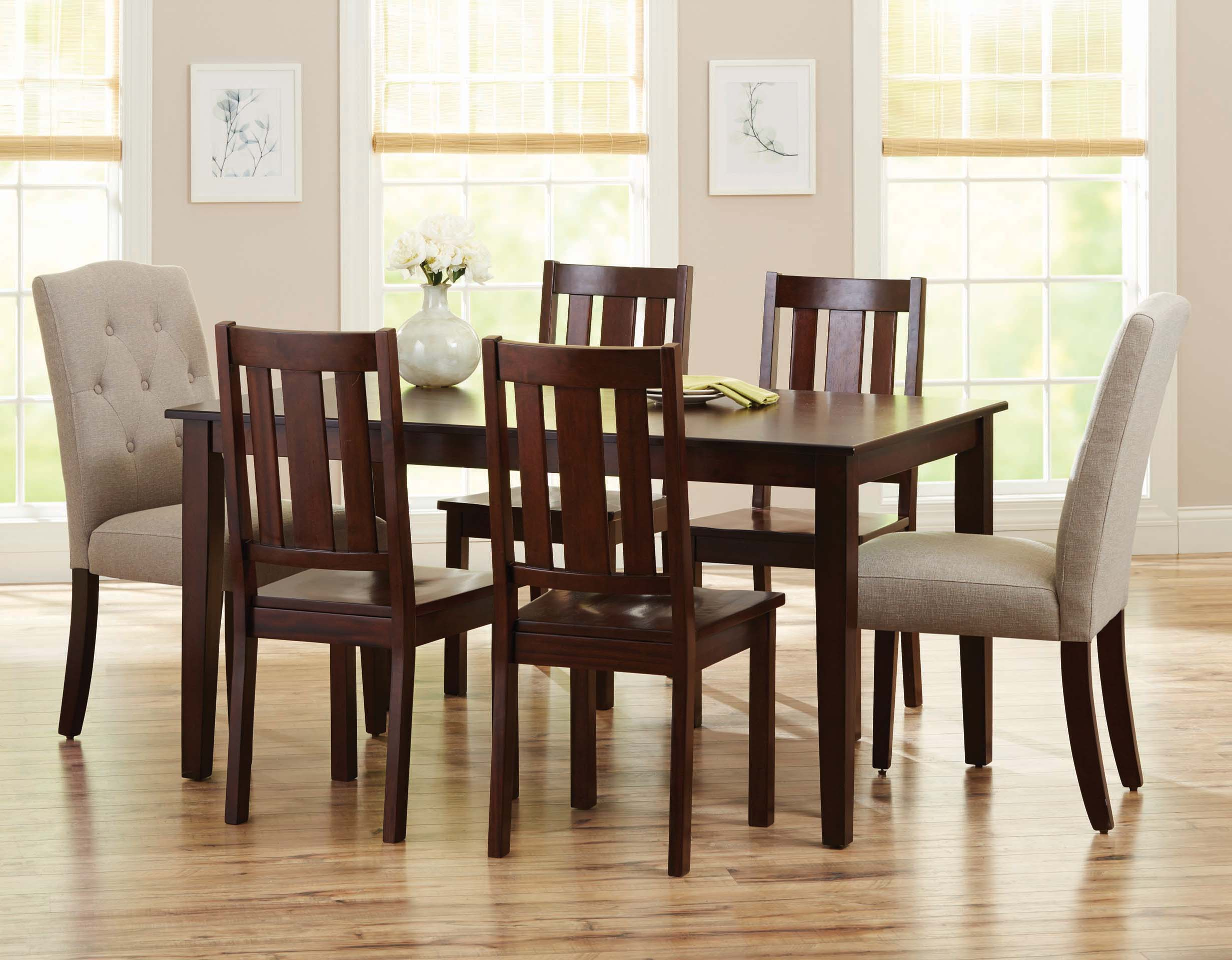 better homes and gardens bankston dining table mocha walmart com