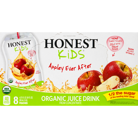Honest Kids Organic Juice, Apple, 6.75 Fl Oz, 8 ct