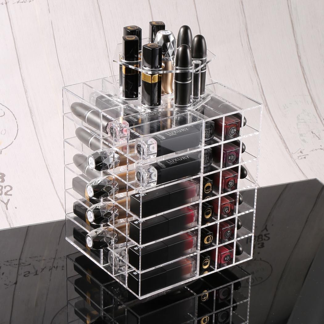 80 Spinning Lipstick Holder Tower Makeup Cosmetic Organiz...