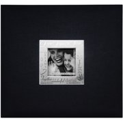 "MBI Expressions Post Bound Album W/Window 12""X12""-Live, Love & Laugh - Black"