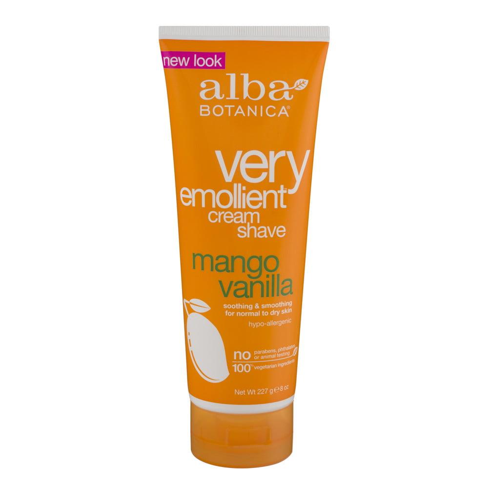 Alba Botanica Very Emollient Cream Shave Mango Vanilla, 8.0 OZ