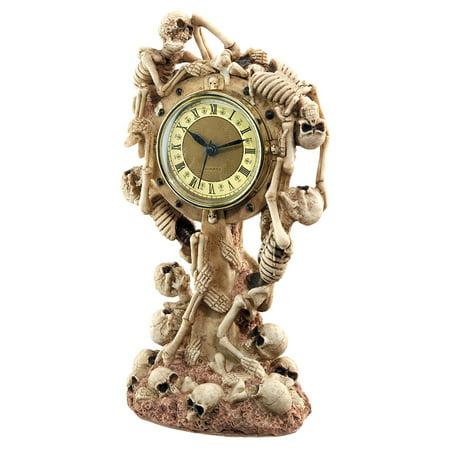 Skeleton Crew Sculptural Mantle Clock