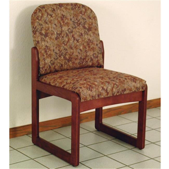 Wooden Mallet DW8-1MHWR Prairie Armless Guest Chair in Mahogany - Watercolor Rose