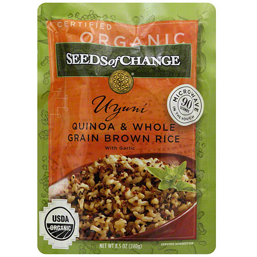 Seeds Of Change Brown Whole Grain With Garlic Quinoa & Rice, 8.5 oz (Pack of 12)