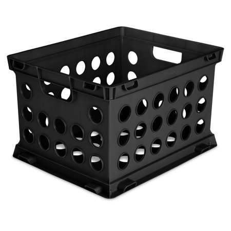 Sterilite File Crate Black