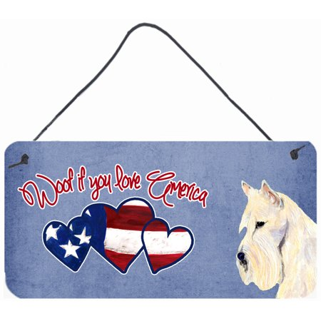 Woof if you love America Wheaten Scottish Terrier Wall or Door Hanging Prints