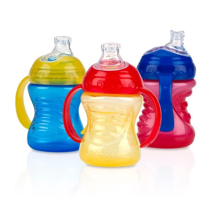 Nuby Grip N Sip Soft Spout Trainer Sippy Cup - 3 (Best Sippy Cup For 14 Month Old)